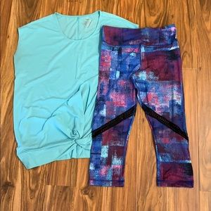 Soma Sport Outfit: side knot tunic/leggings